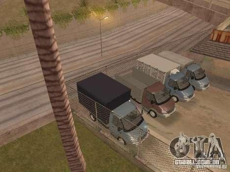 GÁS-3310 Valdai para vista lateral GTA San Andreas