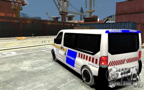 Opel Vivaro Hungarian Police Van para GTA 4 traseira esquerda vista