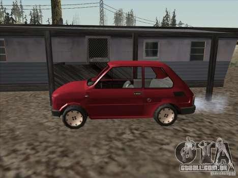 Fiat 126p Elegant para GTA San Andreas esquerda vista