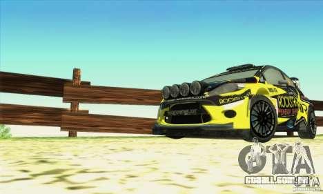 Ford Fiesta Rockstar Energy para GTA San Andreas vista direita