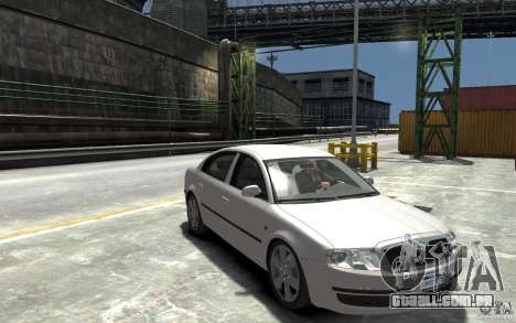 Skoda SuperB para GTA 4 vista de volta