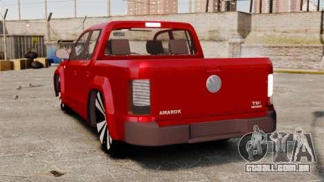 Volkswagen Amarok 2.0 TDi AWD Trendline 2012 para GTA 4 traseira esquerda vista