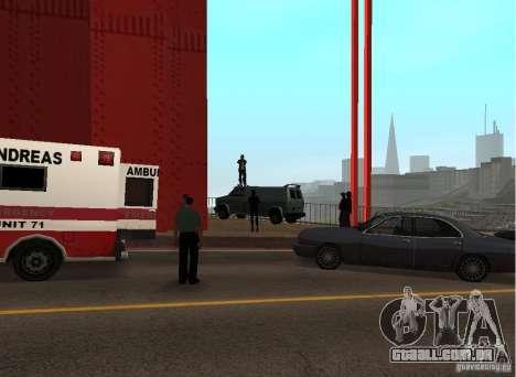 Um homem-bomba na ponte para GTA San Andreas terceira tela