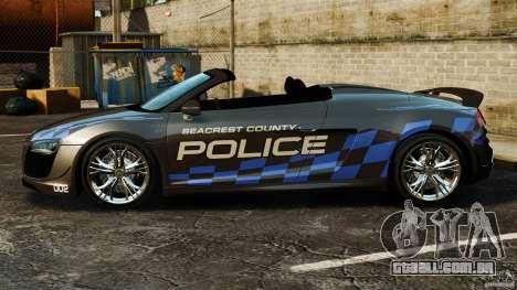 Audi R8 GT Spyder 2012 para GTA 4 esquerda vista