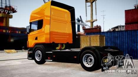 Scania R500 para GTA 4 traseira esquerda vista