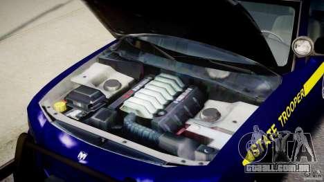 Dodge Charger NY State Trooper CHGR-V2.1M [ELS] para GTA 4 vista de volta