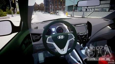 Hyundai Veloster Turbo 2012 para GTA 4 vista direita