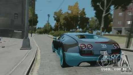 Bugatti Veyron 16.4 Super Sport para GTA 4 vista de volta