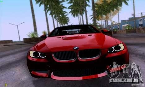 BMW M3 E92 v1.0 para GTA San Andreas traseira esquerda vista
