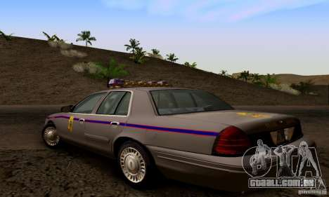 Ford Crown Victoria Mississippi Police para GTA San Andreas esquerda vista