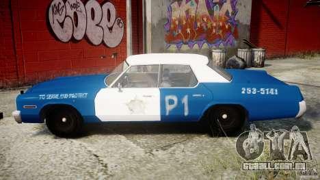 Dodge Monaco 1974 (bluesmobile) para GTA 4 esquerda vista