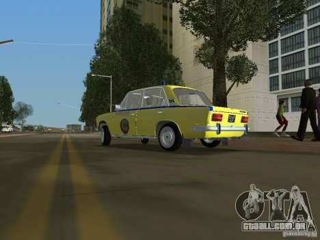 Polícia VAZ 2103 para GTA Vice City deixou vista