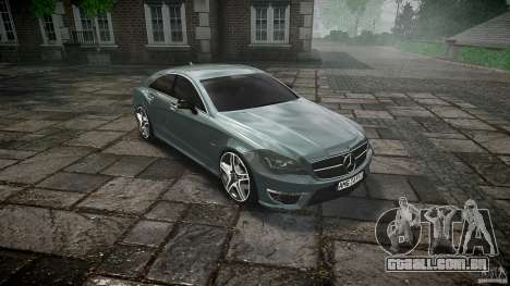 Mercedes Benz CLS 63 AMG 2012 para GTA 4 vista interior
