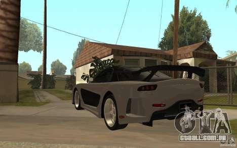 Mazda RX 7 VeilSide Fortune v.2.0 para GTA San Andreas traseira esquerda vista
