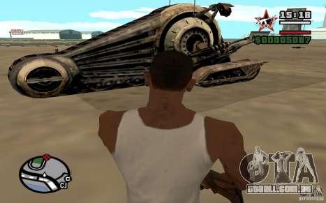 Alliance Tank Droid para GTA San Andreas traseira esquerda vista