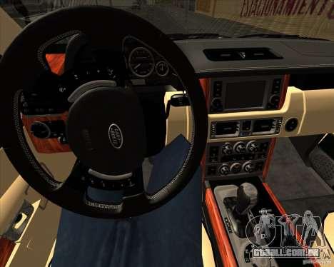 Range Rover Hamann Edition para GTA San Andreas vista inferior