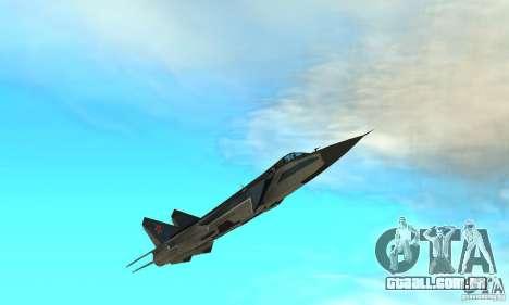 MiG-31 Foxhound para GTA San Andreas vista inferior