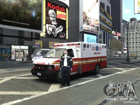 Chevrolet Ambulance FDNY v1.3 para GTA 4