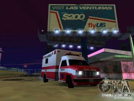 Ambulance 1987 San Andreas para GTA San Andreas traseira esquerda vista