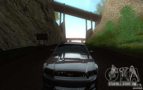 Ford Mustang GT V6 2011 para GTA San Andreas vista interior