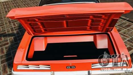 Chevrolet Camaro SS 350 1969 para GTA 4 vista superior