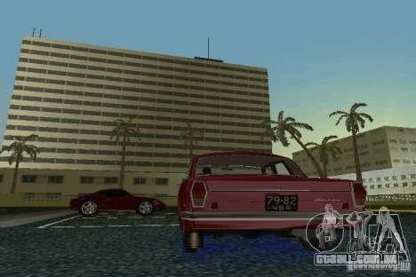 Volga GAZ 24 para GTA Vice City vista traseira esquerda