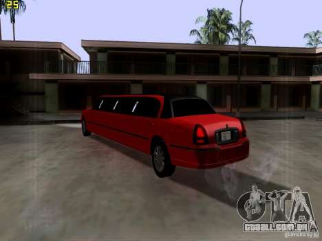 Lincoln Towncar 2010 para GTA San Andreas vista direita