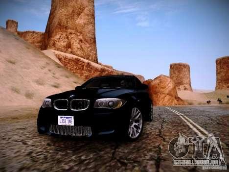 BMW 1M v2 para GTA San Andreas traseira esquerda vista