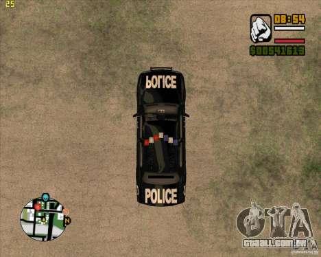 Carro de polícia de NFS: MW para GTA San Andreas vista traseira
