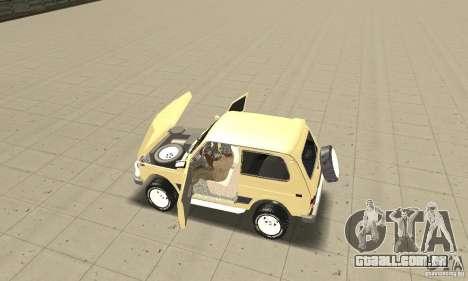VAZ 21213 4 x 4 para GTA San Andreas vista traseira