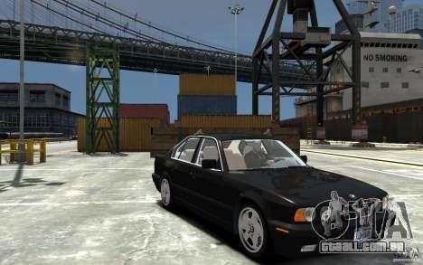 BMW 540i E34 v3.0 para GTA 4 vista de volta