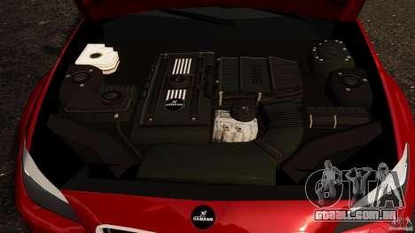 BMW M5 F10 2012 Hamann para GTA 4 vista interior