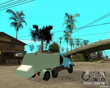 Caminhão de lixo ZIL-131 para GTA San Andreas traseira esquerda vista