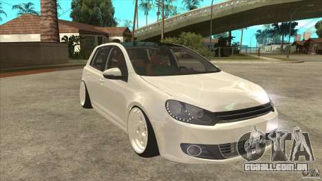 Volkswagen Golf VI 2010 Stance Nation para GTA San Andreas vista traseira