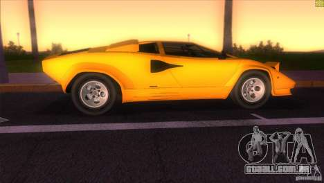 Lamborghini Countach para GTA Vice City vista traseira esquerda