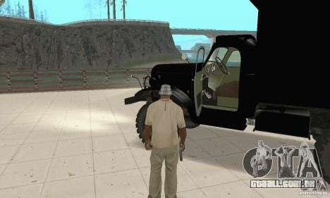 ZIL 157 para GTA San Andreas vista traseira