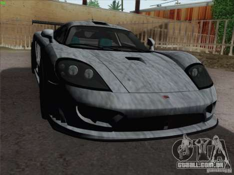 Saleen S7 Twin Turbo Competition Custom para GTA San Andreas vista inferior