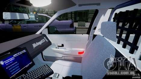Ford Crown Victoria Fl Highway Patrol Units ELS para GTA 4 vista de volta