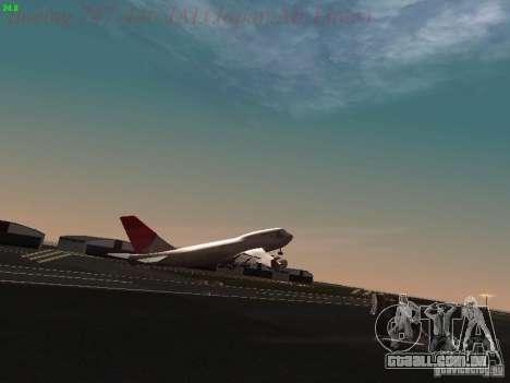 Boeing 747-446 Japan-Airlines para GTA San Andreas vista inferior