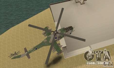 Um helicóptero do conflito de Shtorm Global para GTA San Andreas vista interior