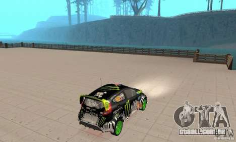 Ford Fiesta 2011 Ken Blocks para GTA San Andreas esquerda vista