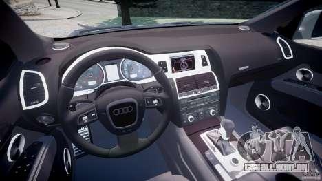 Audi Q7 V12 TDI Quattro Stock  v2.0 para GTA 4 vista de volta