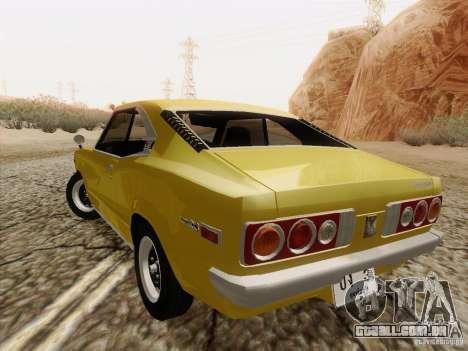 Mazda Savanna RX3 para GTA San Andreas vista traseira