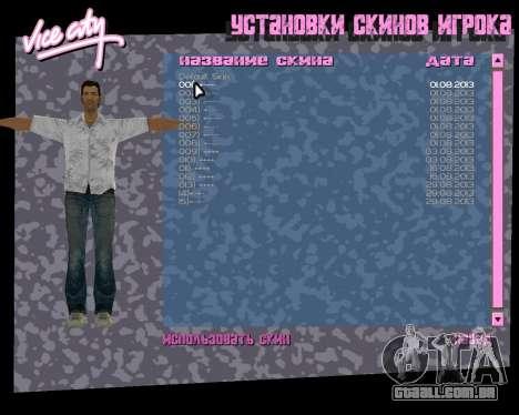 Camisa branca para GTA Vice City sétima tela