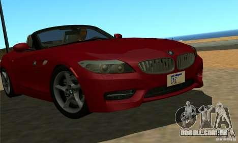BMW Z4 2010 para GTA San Andreas esquerda vista