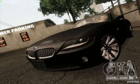 BMW Z4 para GTA San Andreas vista interior