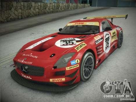 Mercedes-Benz SLS AMG GT3 Black Falcon 2011 para GTA San Andreas