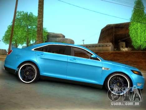 Ford Taurus SHO 2011 para GTA San Andreas vista traseira