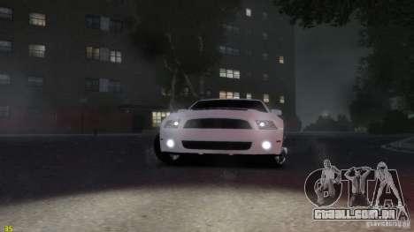 Ford Shelby Mustang GT500 2011 v2.0 para GTA 4 vista de volta