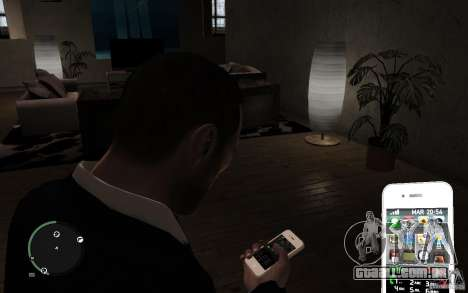 iPhone 4 white para GTA 4